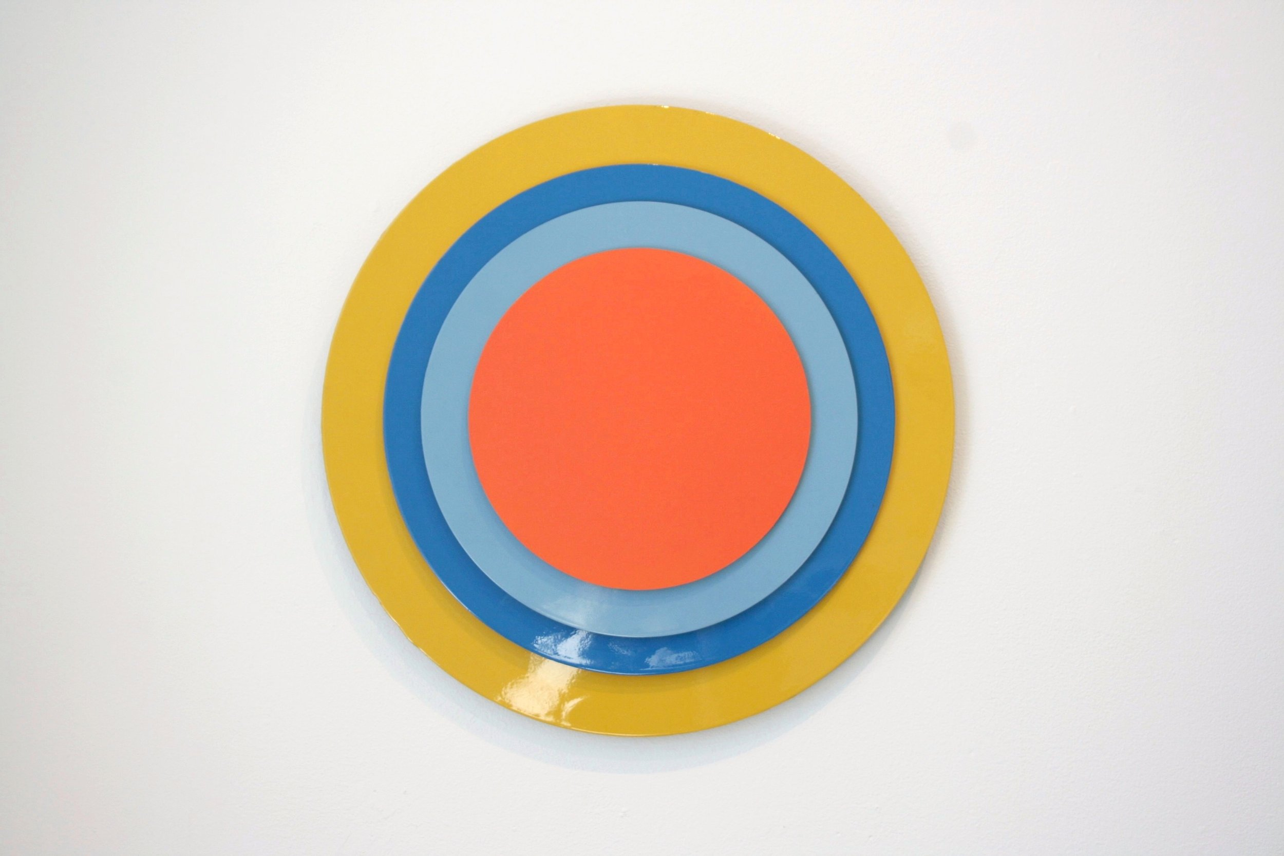 Surround,  2010 Lacquer on MDF, 50 cm in diameter  I See You , LNM, 2010