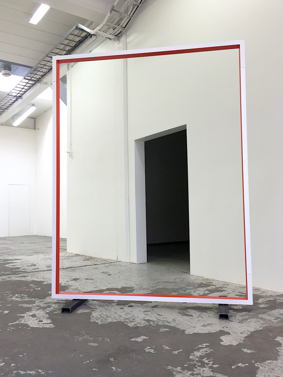 Gate , 2015 Lacquer on aluminium, 220 x 150 cm Bærum Kunsthall, 2017 Photo: Christine Istad