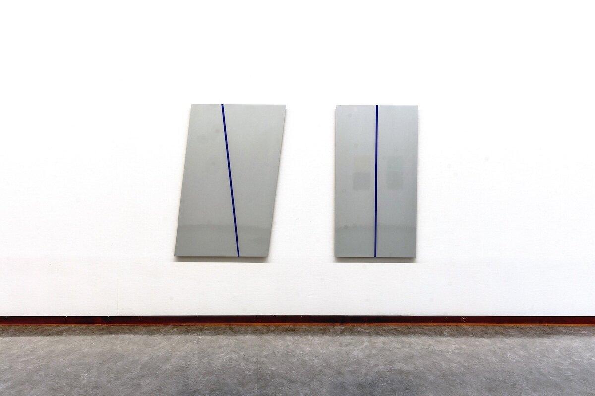 Silver Bullet , 2015 Lacquer on MDF, 160 x 200 cm  Neo Ego , Haugesund Billedgalleri, 2015 Photo: Gunhild Saltvik