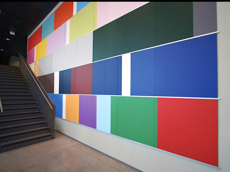 Mental palett , 2007 Painted MDF, 700 x 1100 cm Commission University of Oslo (UIO), Department of Psychology
