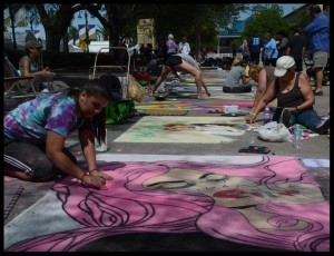 CHALK - UpTown Art Expo will also feature Chalk Street Artists creating mesmerizing chalk masterpieces on the sidewalks as their canvas presented by MIDFLORIDA Credit Union.