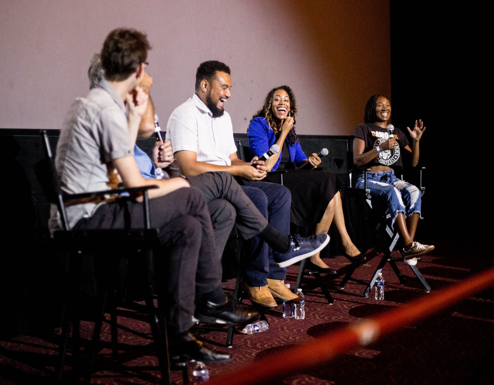 AMERICA TO ME cast & crew in discussion
