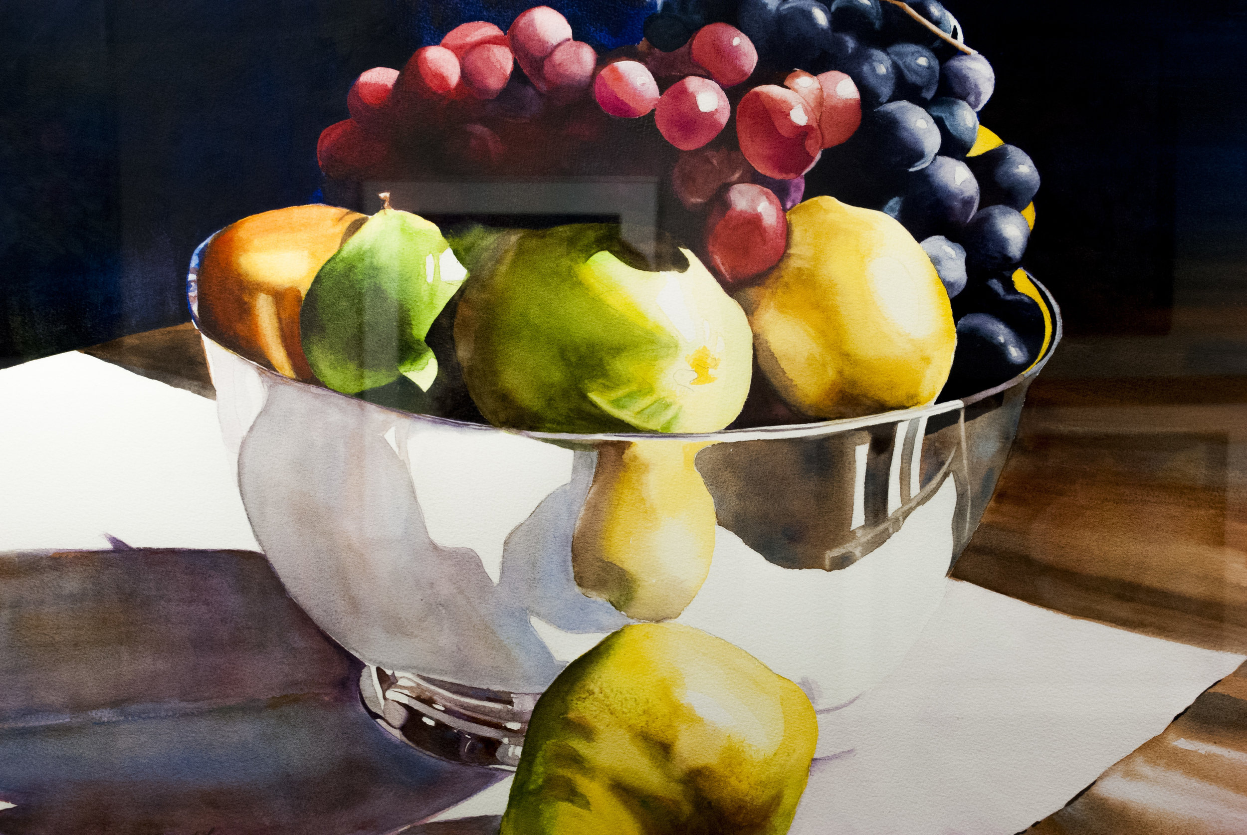 MERIT: SILVER BOWL WITH FRUIT BY ESTHER GARFINKEL