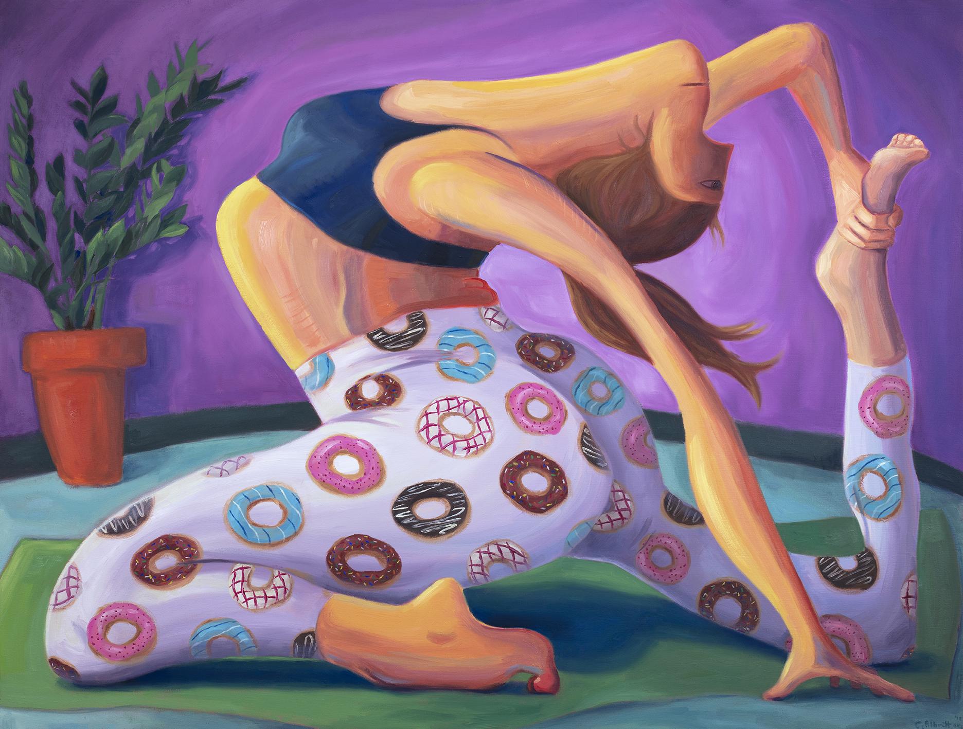 Caitlin Albritton_Hot Yoga_ 42 x42_Oil on Canvas_2018_ 2MB.jpg
