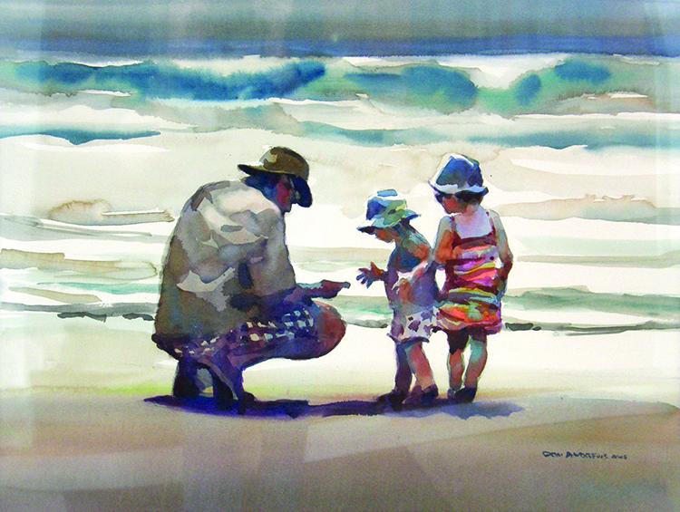 Marc and girls on beach.jpg
