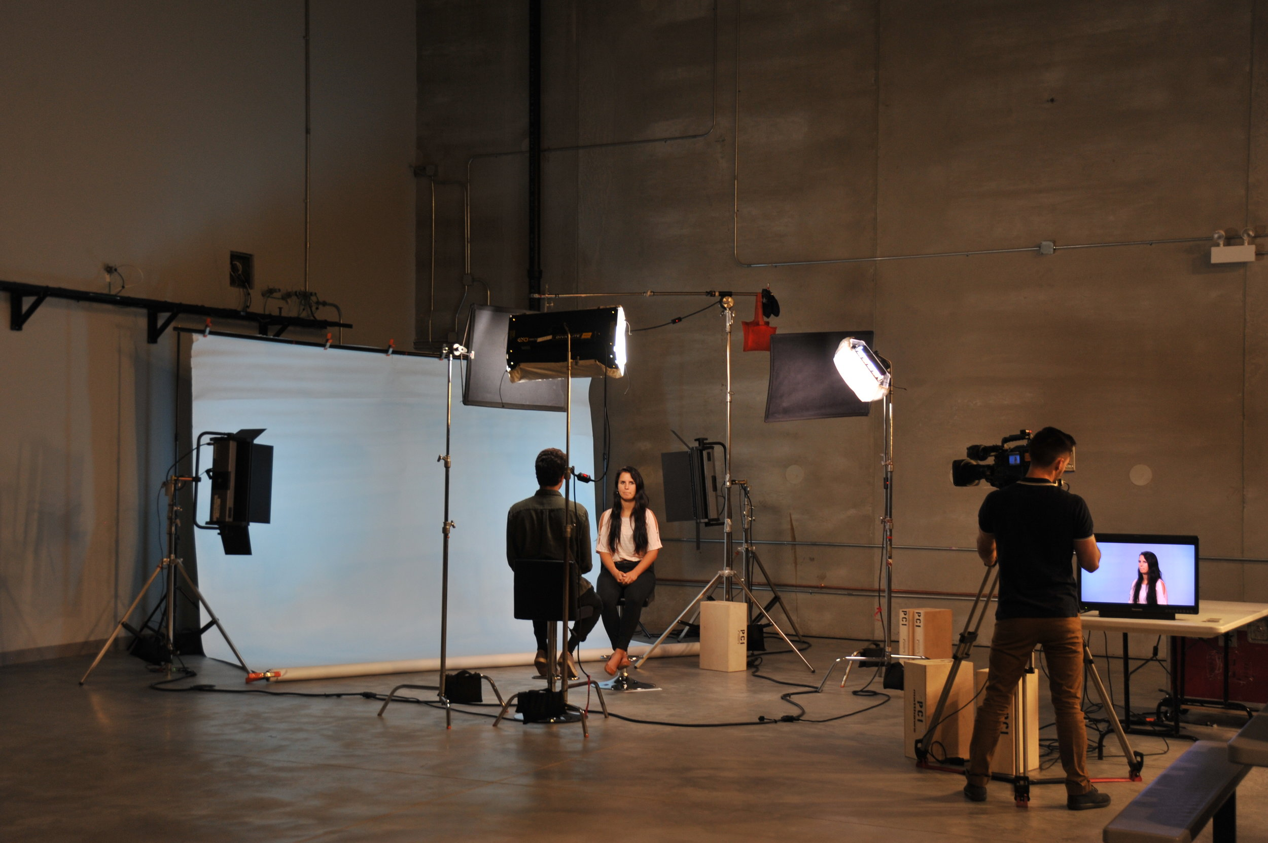 Chicago Studio Rental_Studio Setup Example for Interviews_Top Chicago Video Production Company_Production Craft 2.JPG