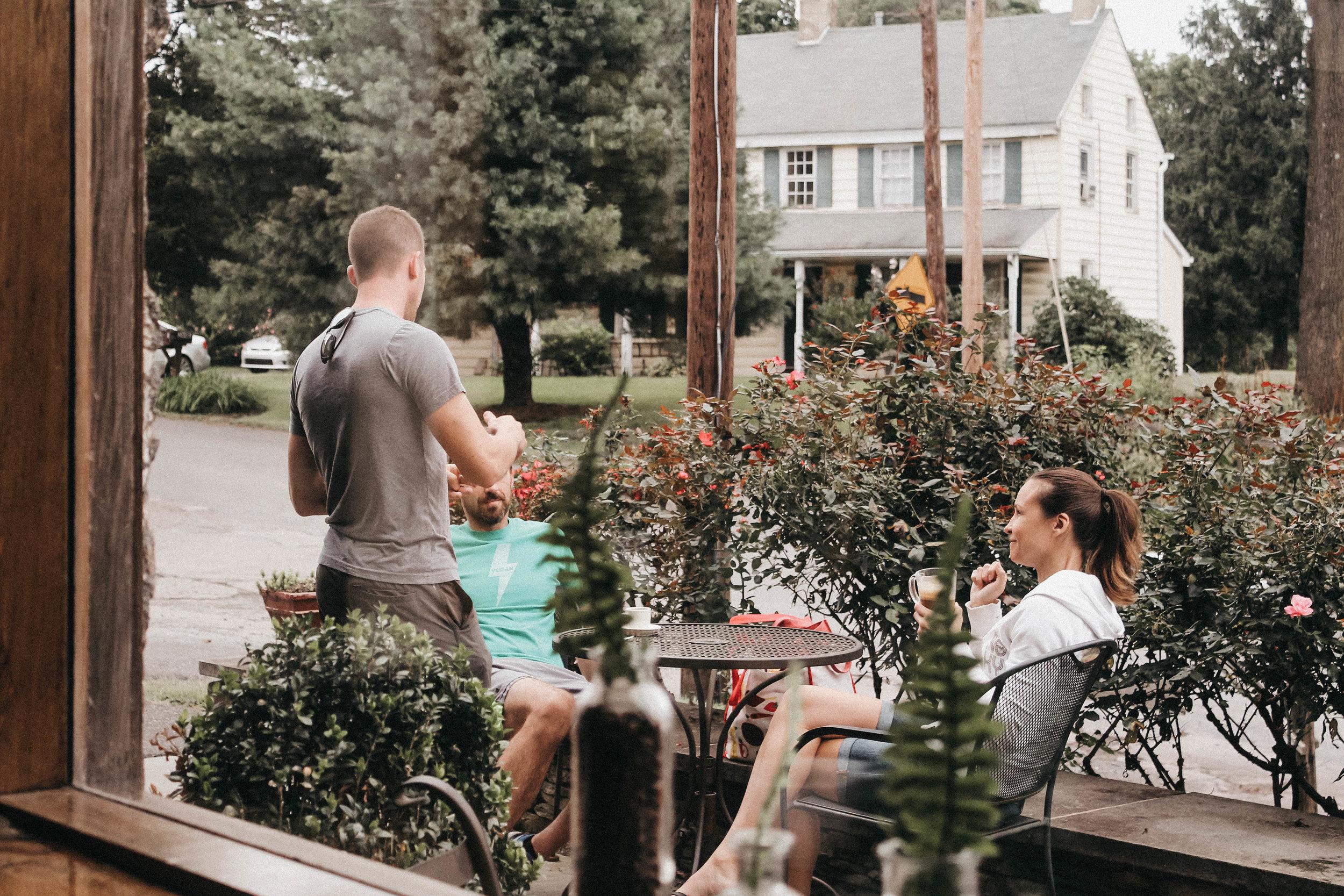 brigodoon coffee house people talking.jpg