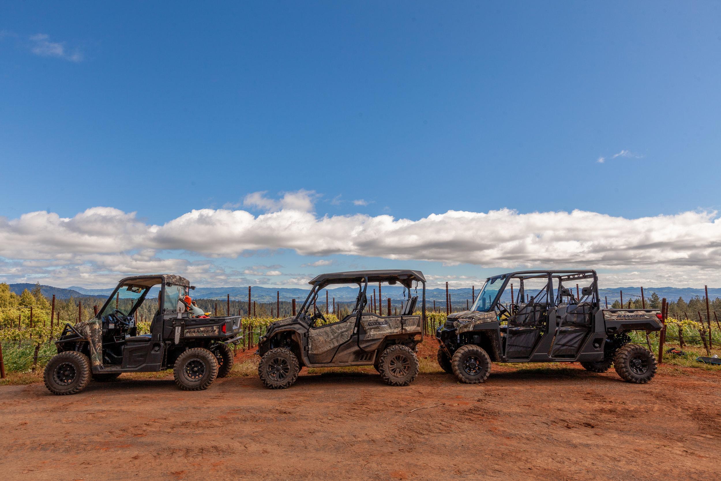 ATVs ready for tour
