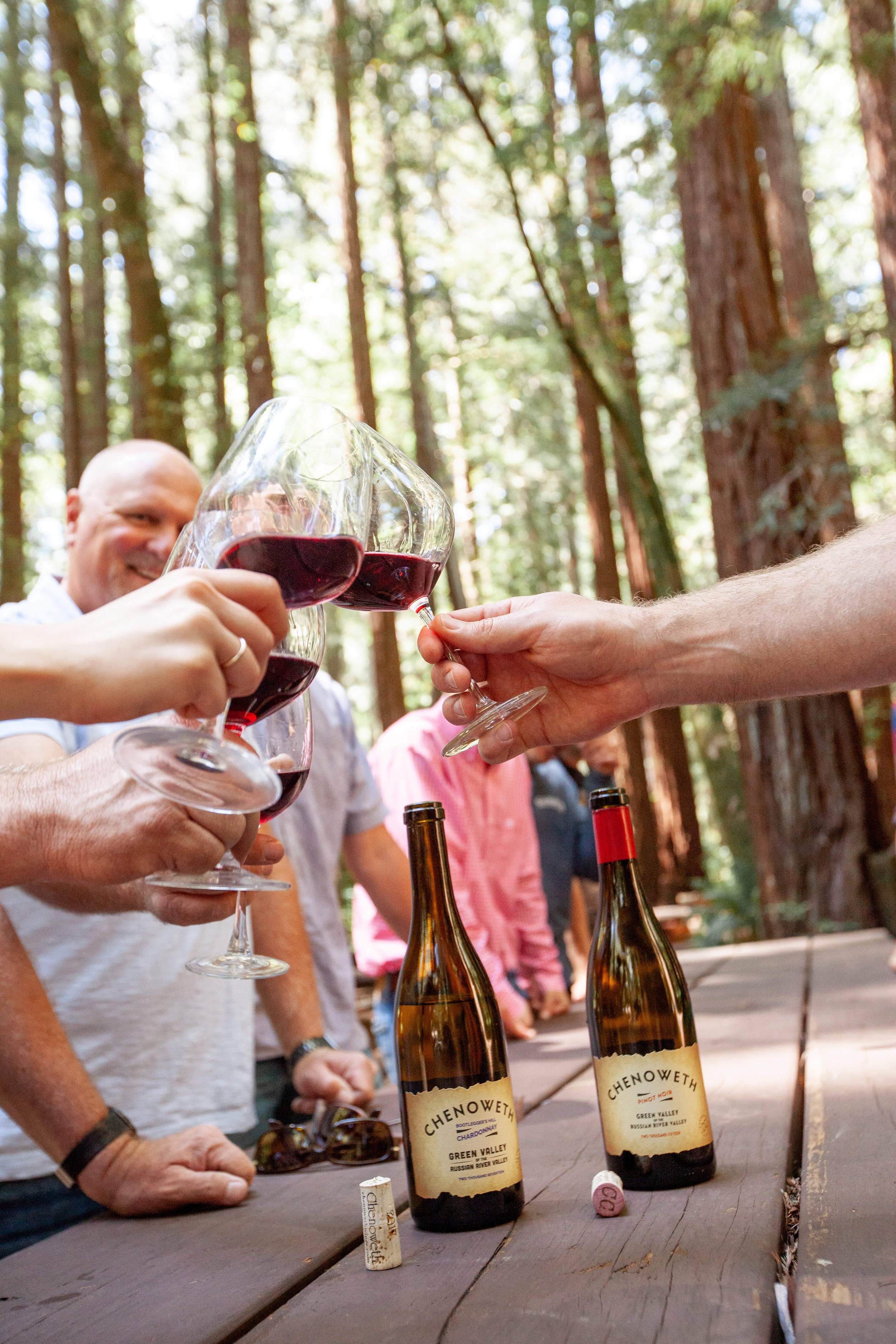 Chenoweth tasting in Redwood Grove