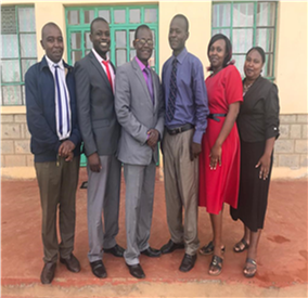 L to R James Karanja, Vincent Okechi, Douglas Wamalwa, Joseph Wasike, Elizabeth Kangethe, and Purity Muigai