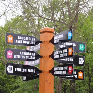 Wayfinding signs now erected in Bobcaygeon by Impact 32