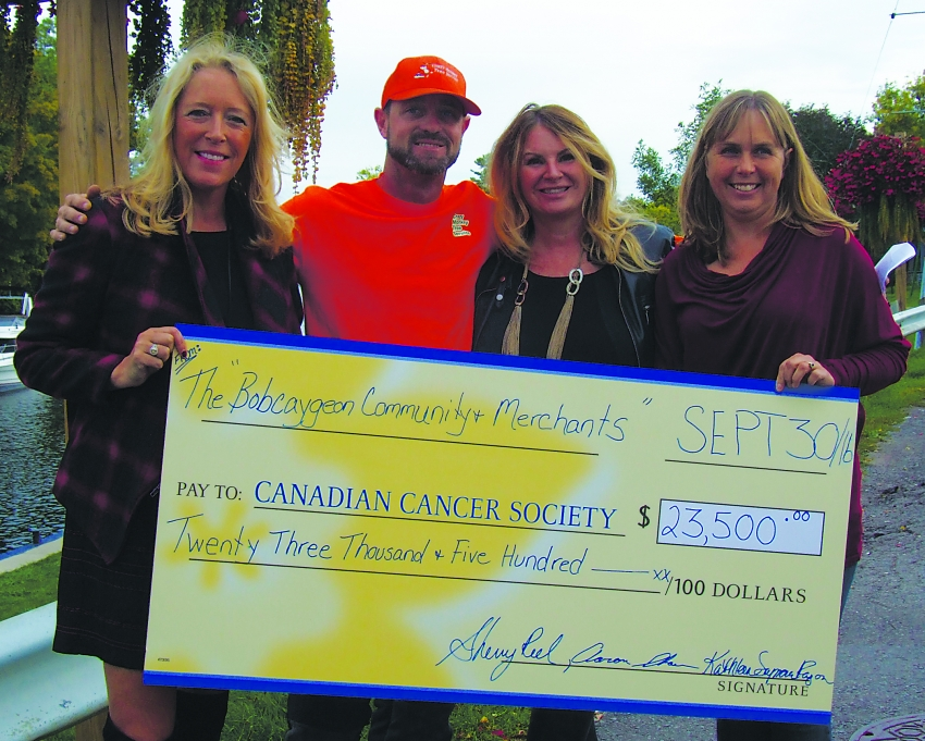 Bobcaygeon Community & Merchants donating $23,500 to Canadian Cancer Society from Tragically Hip 2015 street party