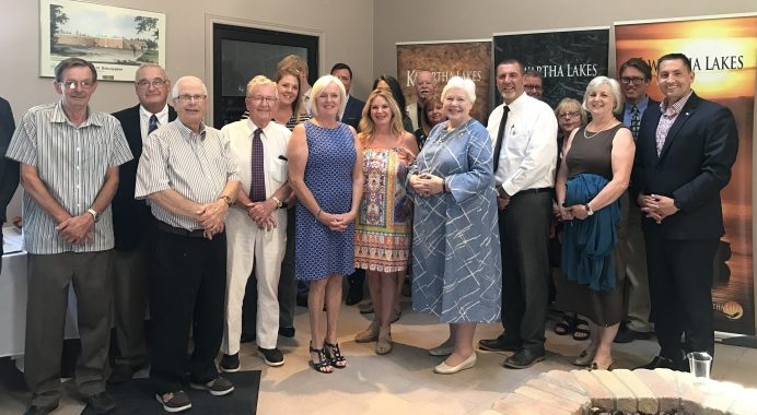 Kathleen meeting with Lieutenant Governor, Her Honour Elizabeth Dowdeswell and tourism partners at Bobcaygeon Service Centre
