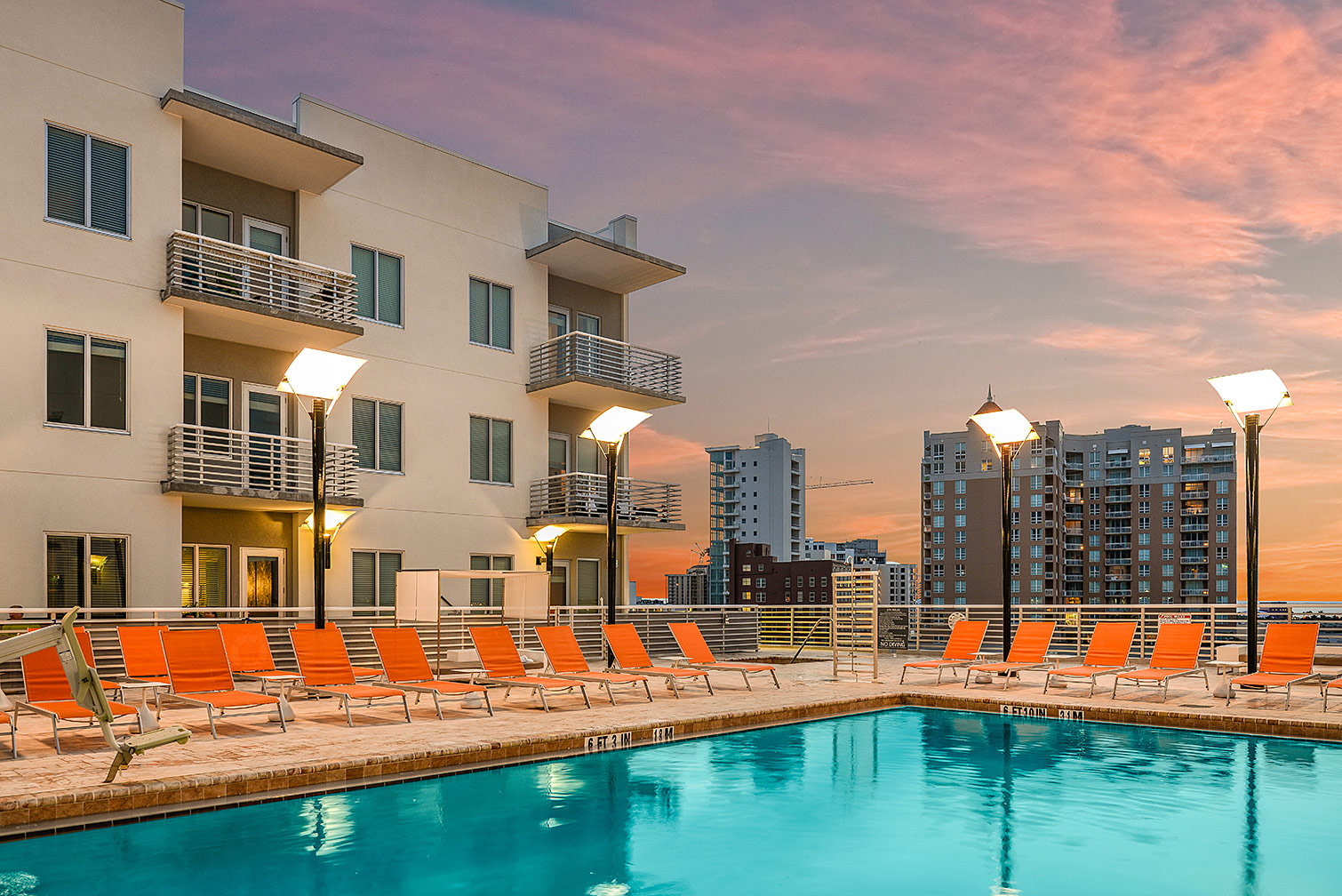 Aloft Hotel Pool at Night