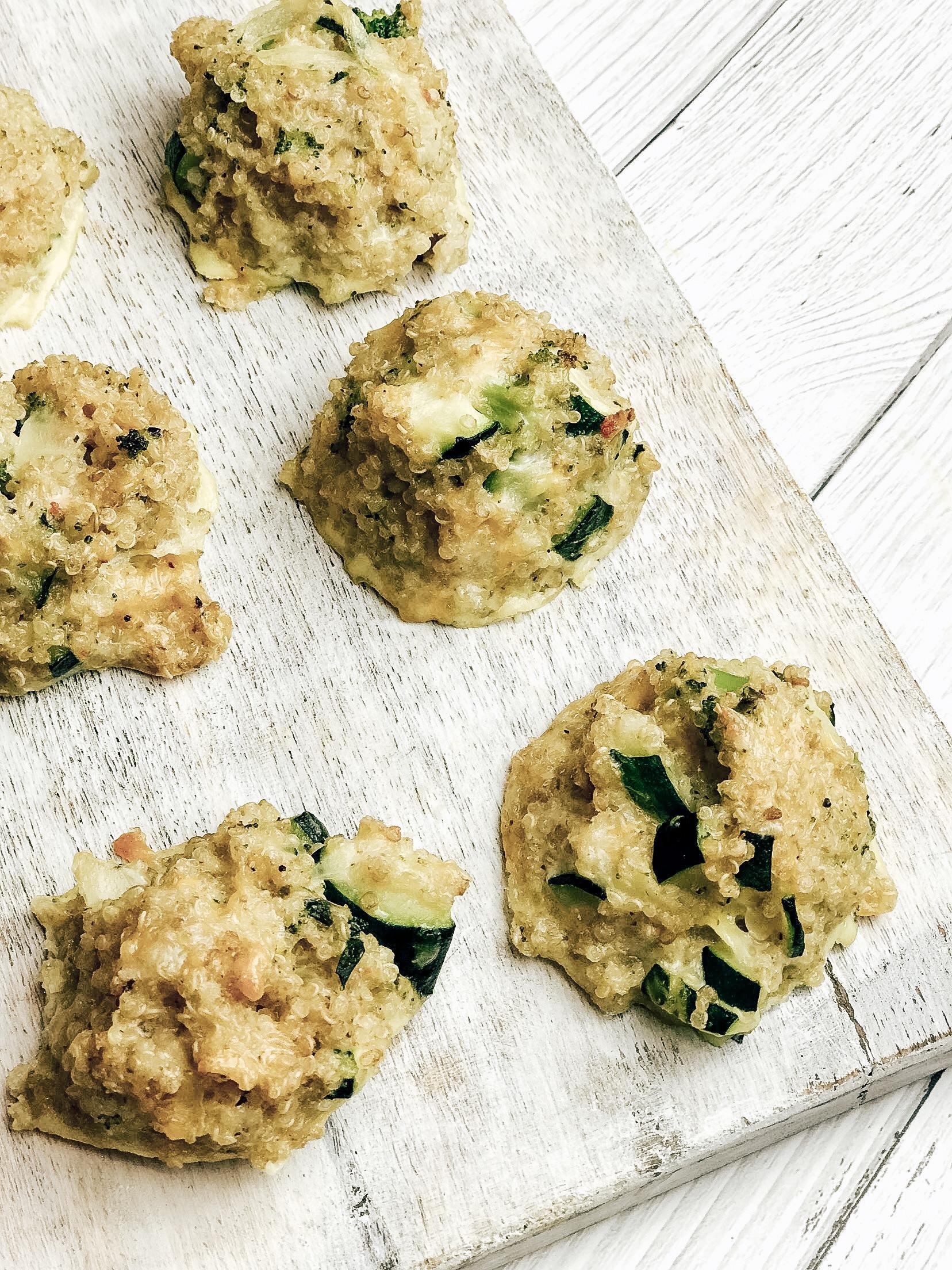 Kids Veggie Loaded Quinoa Bites