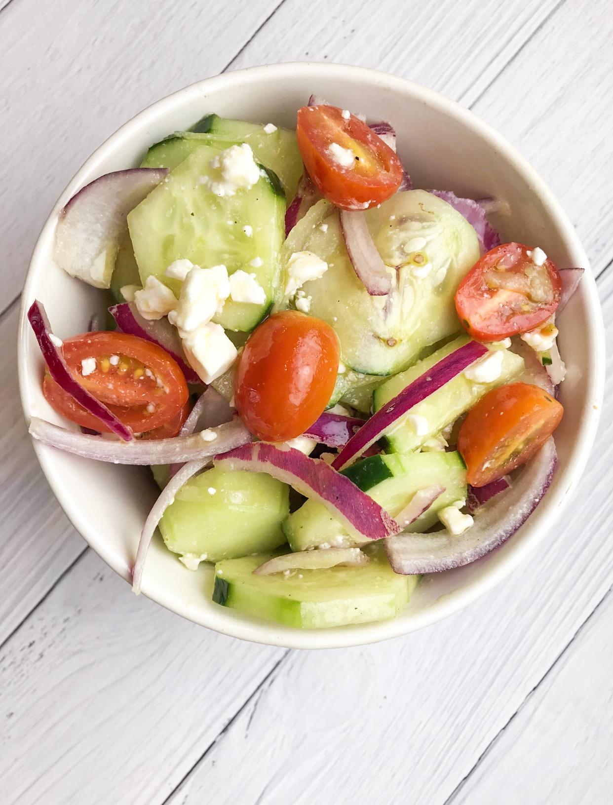 Cucumber Feta (detox) Salad