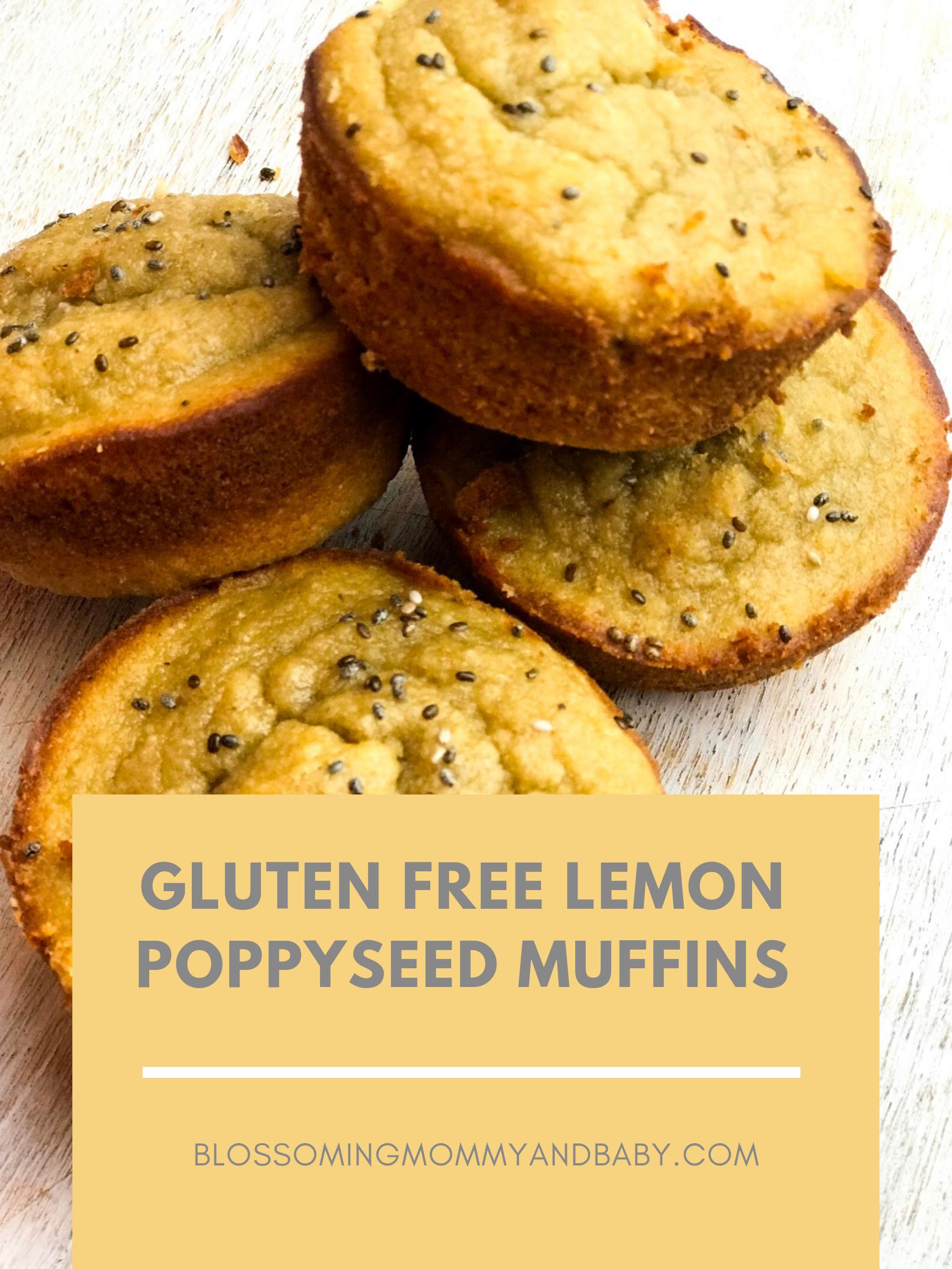 Gluten Free Lemon Poppyseed Muffins