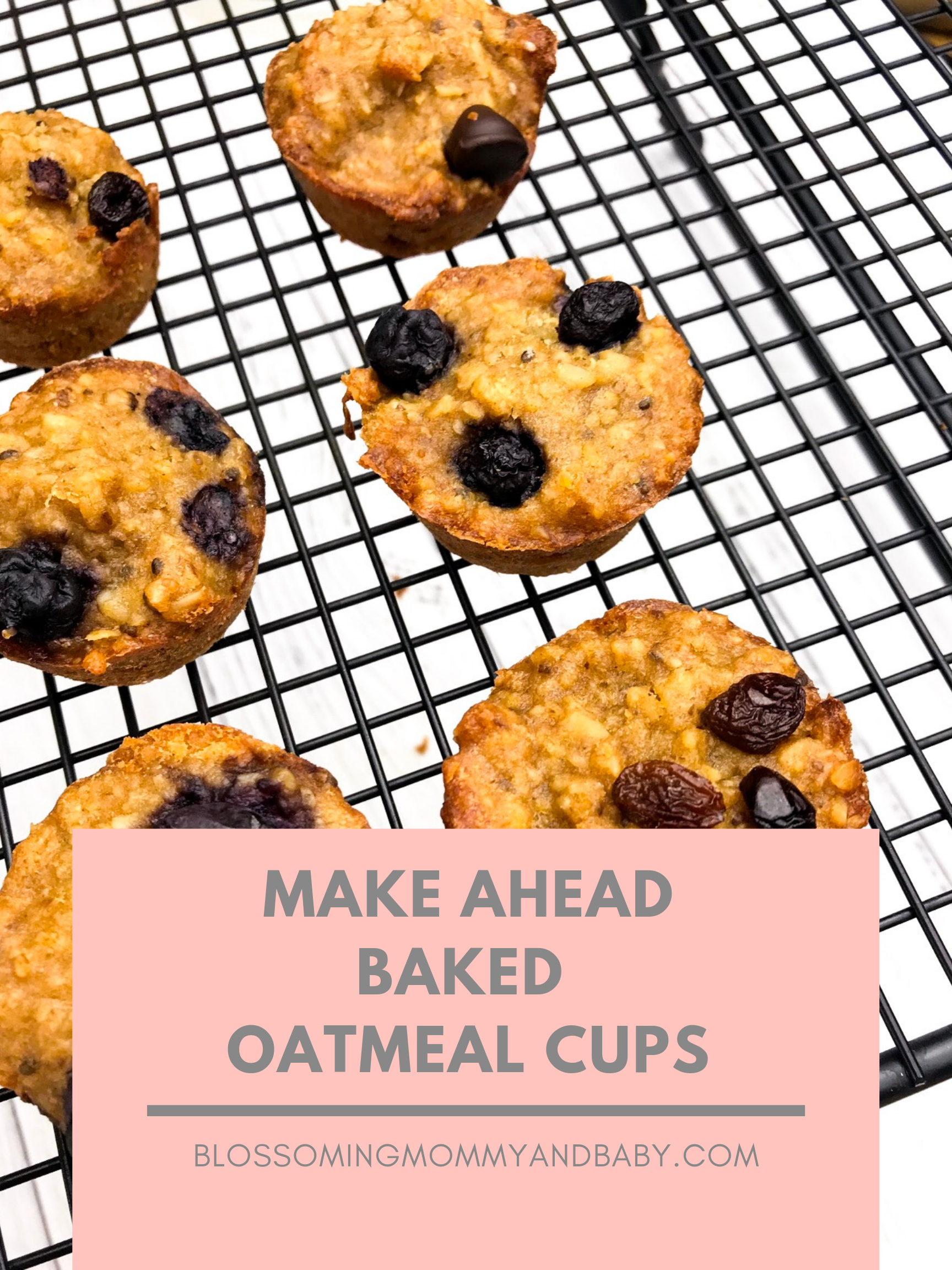 Make Ahead-Baked Oatmeal Cups