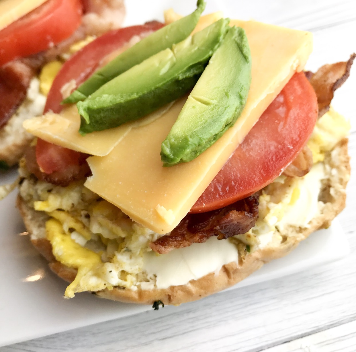 Healthy Breakfast Bagels