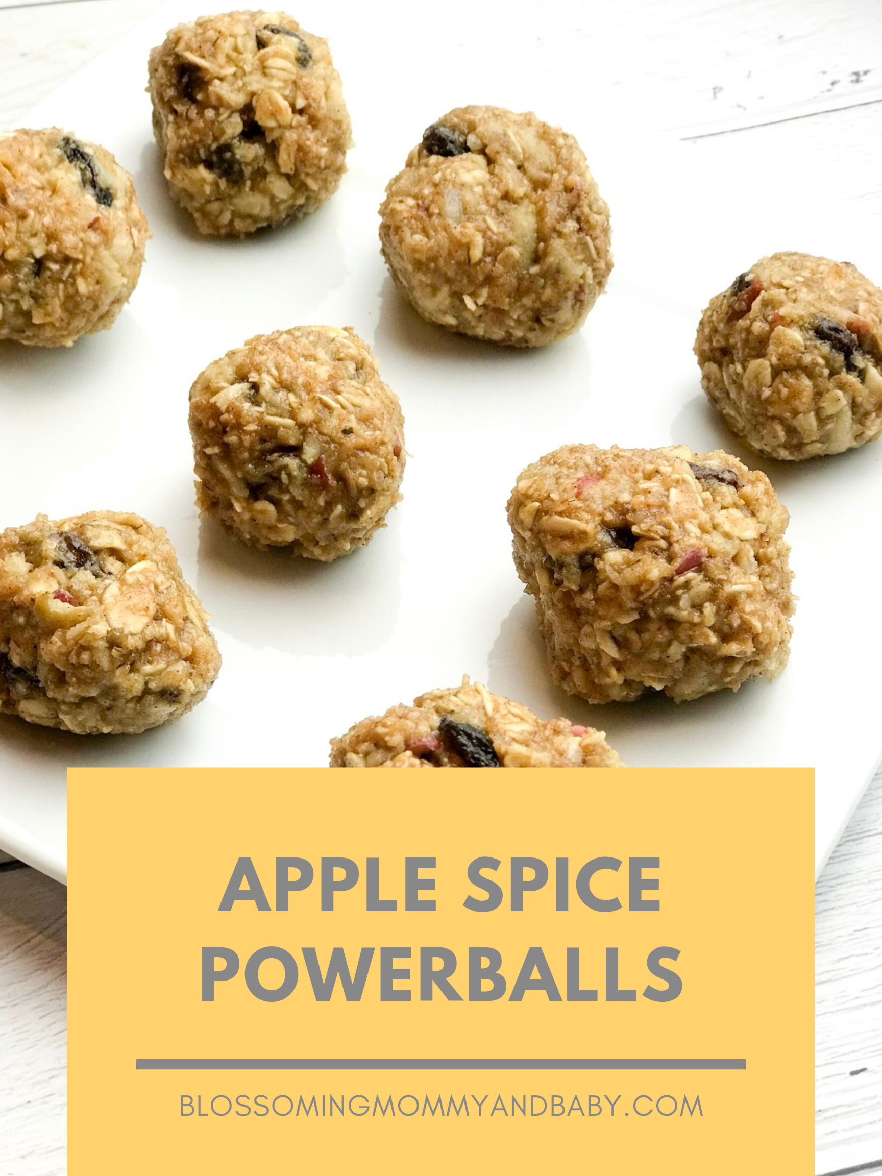 Apple Spice Powerballs