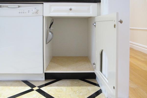 Hidden Cat Litter Box Cabinet K T