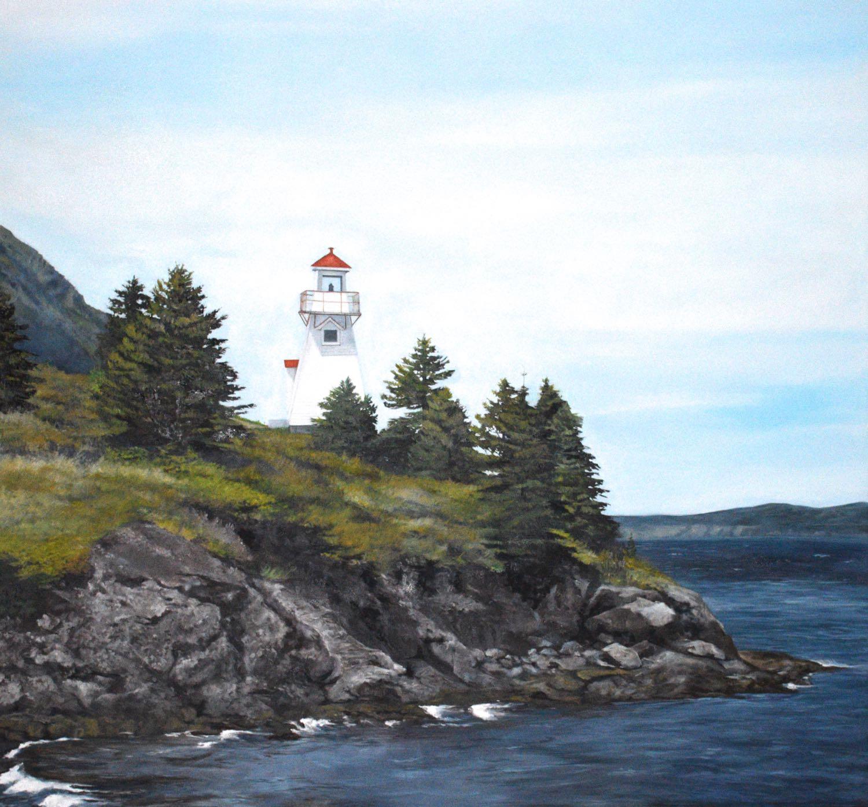 """light house, 2014, oil on canvas, 60"""" x 60"""""""