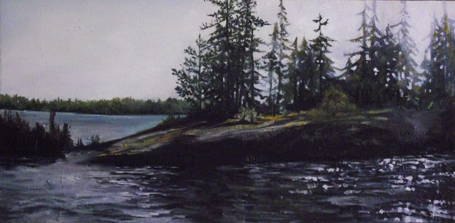 """north bay, 2013 oil on canvas, 24"""" x 12"""""""