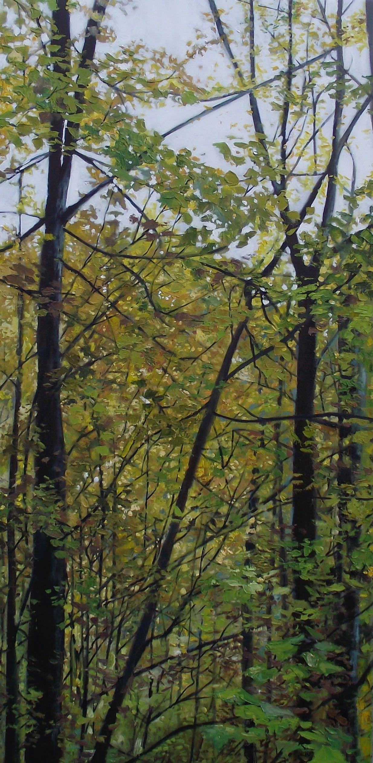 "on spiced rum 1/3, 2012, oil on canvas, 24"" x 48"""