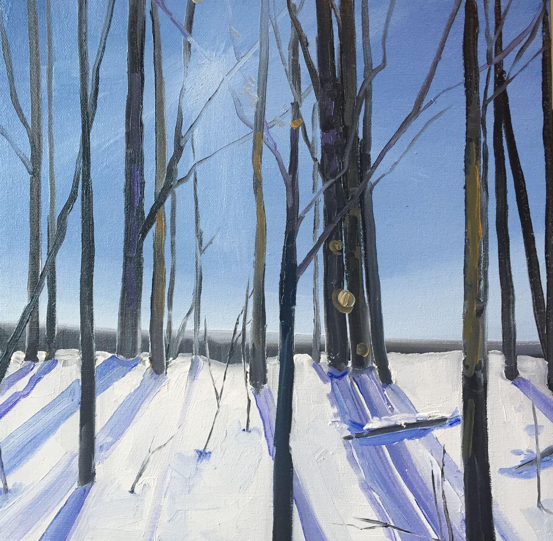 "breath, 2016, oil on canvas, 12"" x 12"""