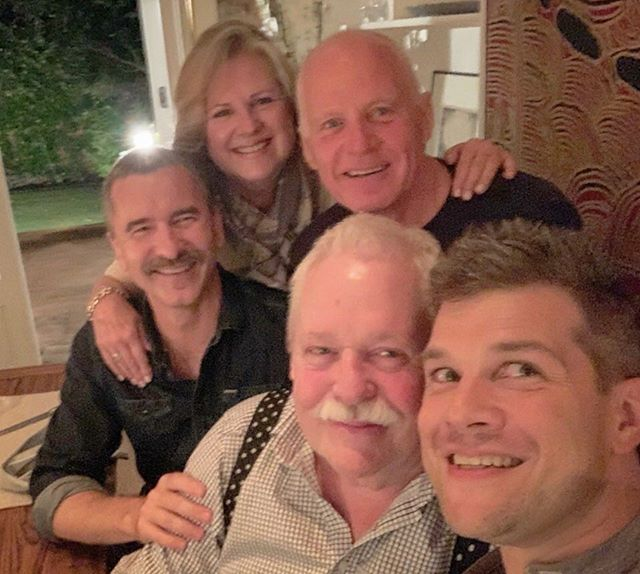 Our first dinner party at our new London digs—my sister Jane Maupin Yates, our Broadway friend Stephen Oremus visiting from New York, and my old chum and fellow queer activist Lord Michael Cashman.