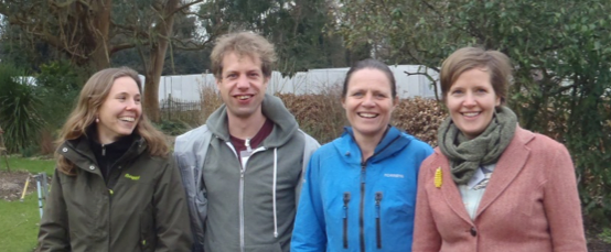 The TBI team members: Judith, Joost, Mariet and Taru Photo by Judith Sarneel