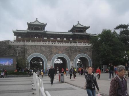 Xuanwu gate to the old Nanjing City Wall                                         Photo credit E.Bach