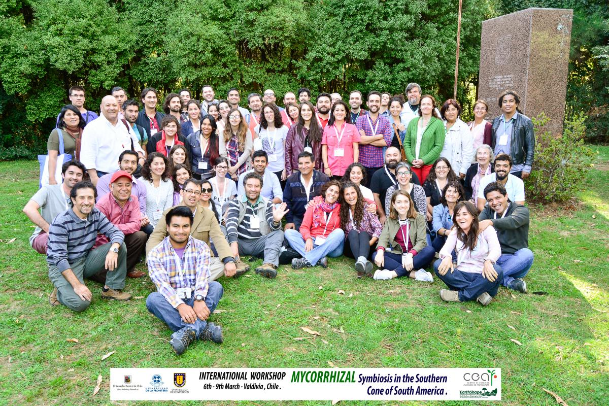 Participants of the Mycorrhizal Symbiosis in the Southern Cone of South America workshop, in Valdivia, Chile, March 2017.