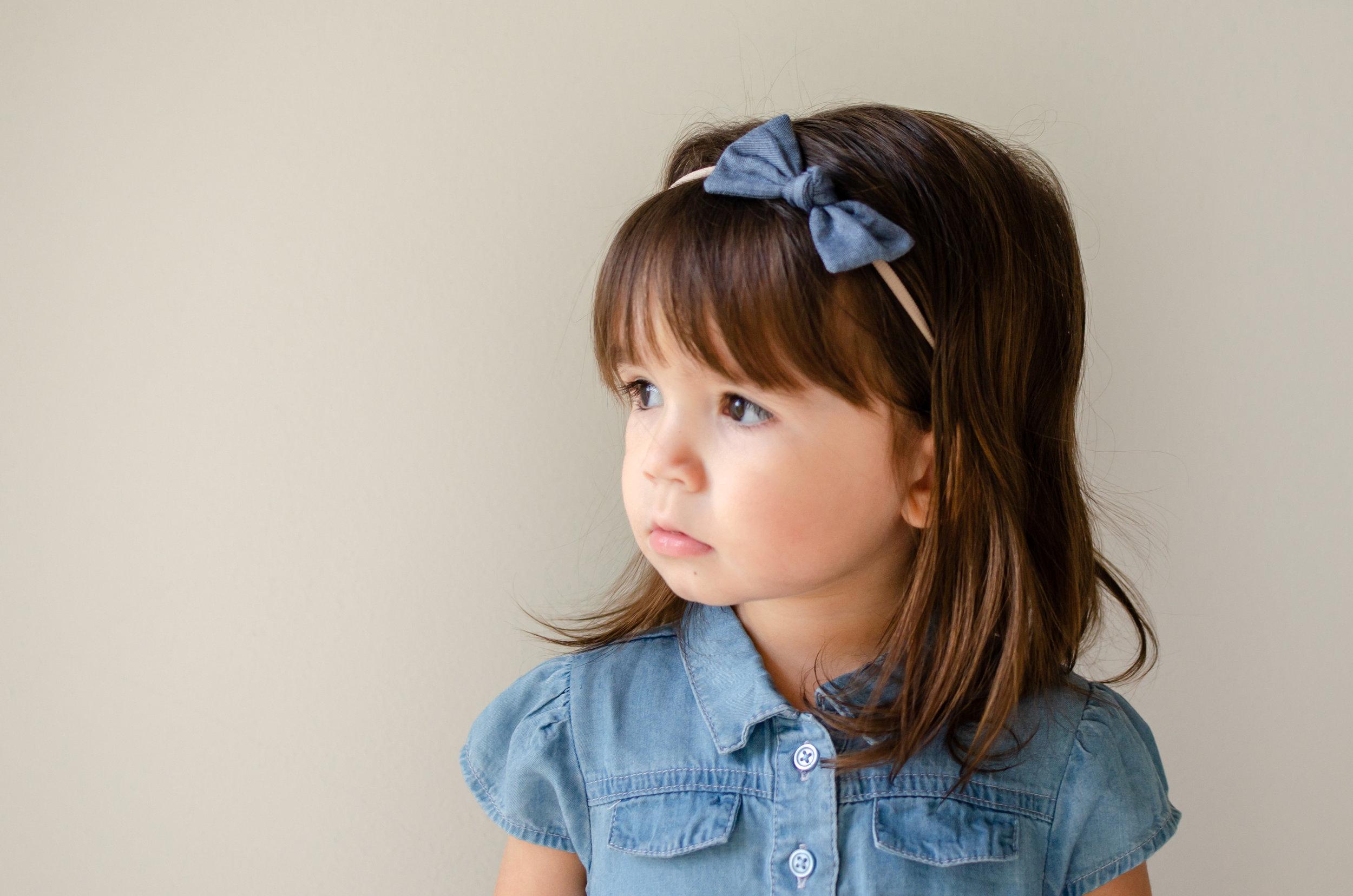 Blue baby girl headbands