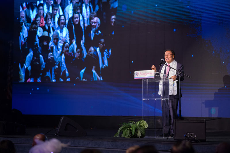 Bishop Ki Hoon Kim shared his life experience seeking peace.