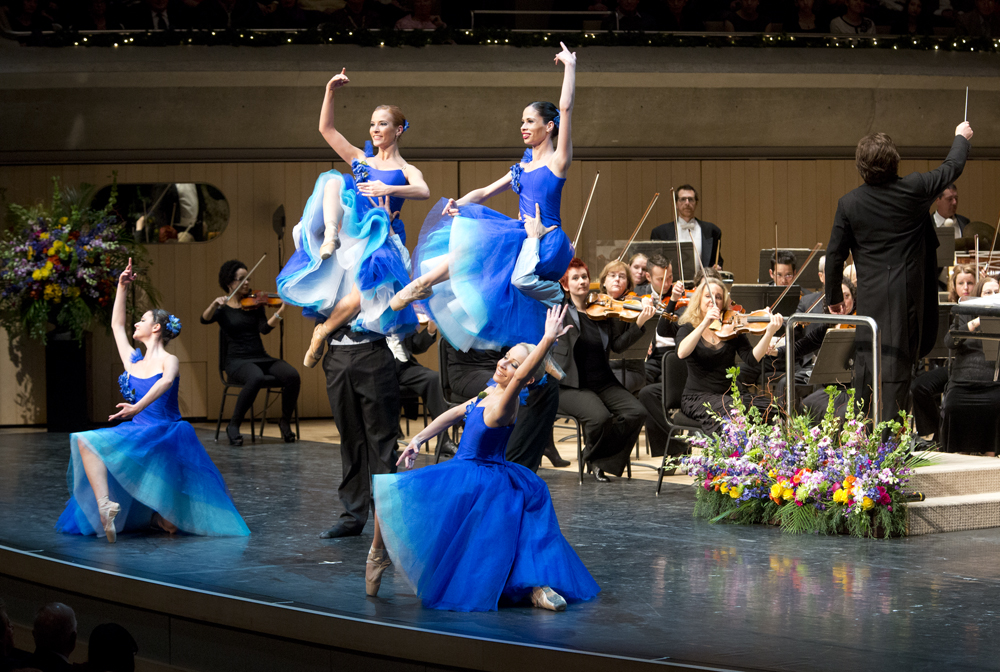 Salute To Vienna Dancers Blue Dresses Horiz