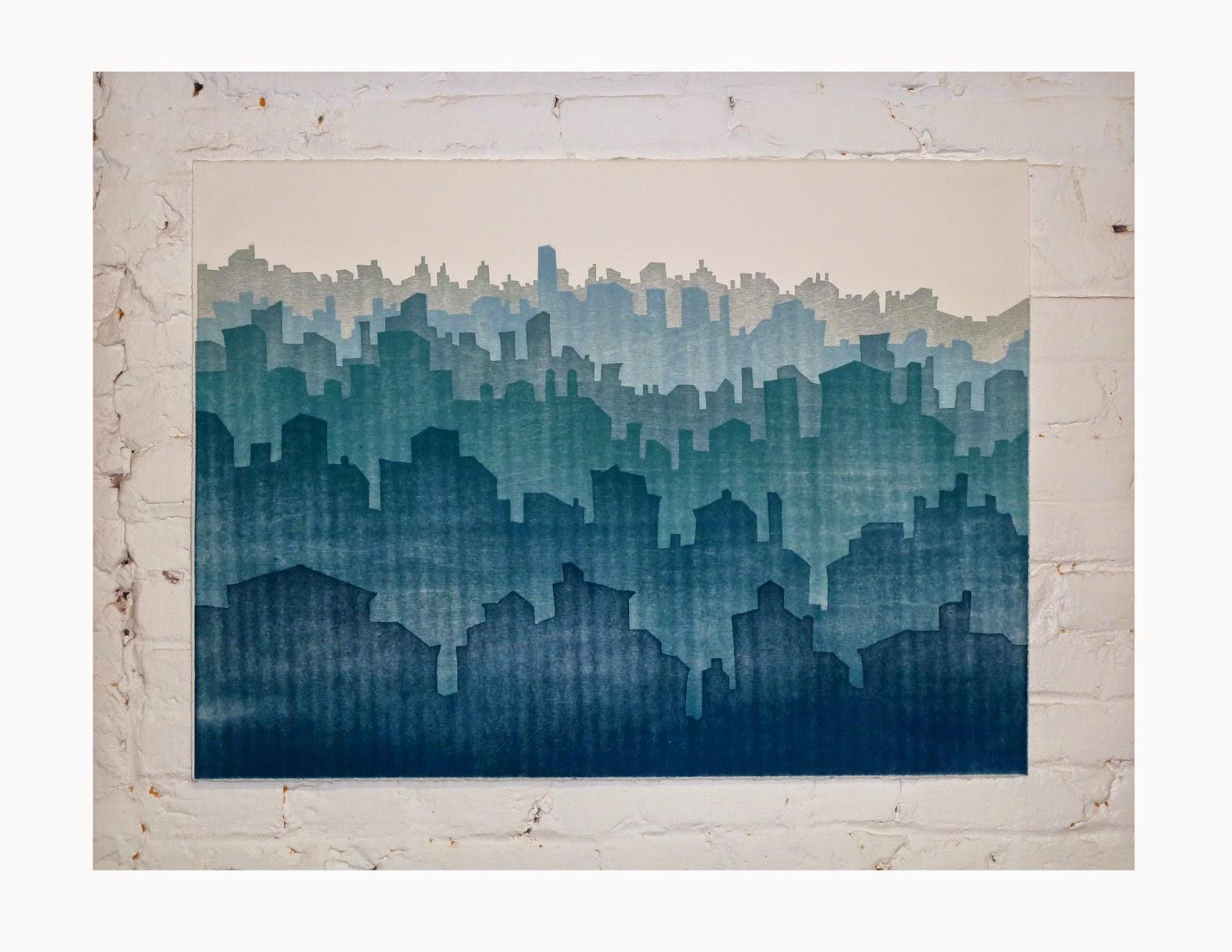 Urban Ocean Series Blue Fade by Lisa Imperiale