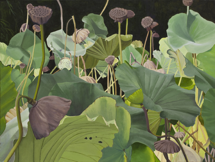 "1. ""Lotus I,"" 2013, acrylic on canvas, Dallas Piotrowski Photo credit: Taylor Photography in Princeton, N J."