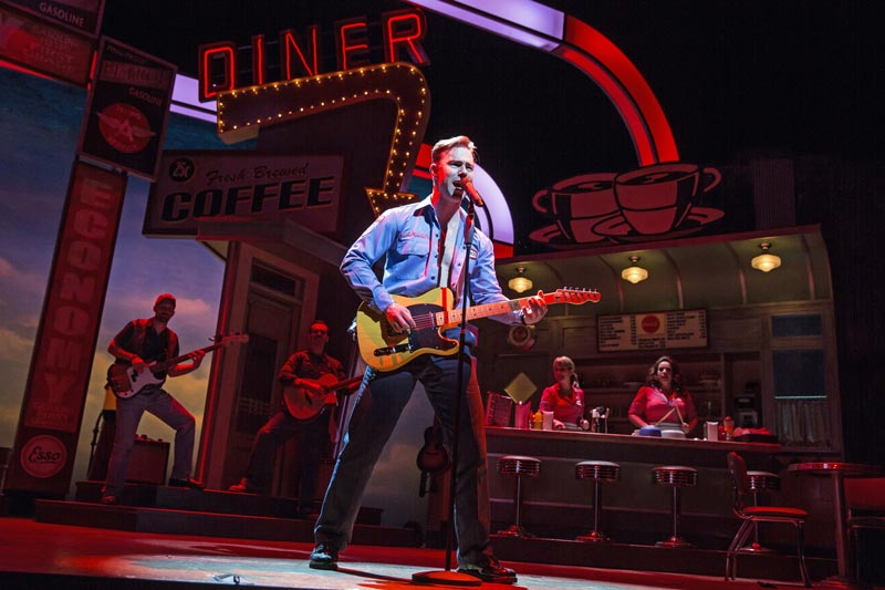 """""""Pump Boys and Dinettes"""" at Paper Mill Playhouse - photo by Matthew Murphy"""
