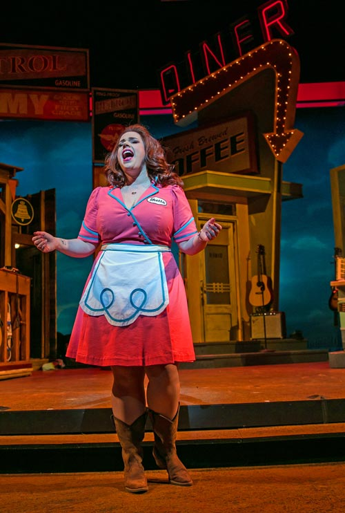 """""""Pump Boys and Dinettes"""" at Paper Mill Playhouse - photo by Jerry Dalia"""
