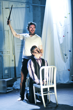 Eric Tucker and Tom O'Keefe in Hamlet. Photo by Jenny Anderson