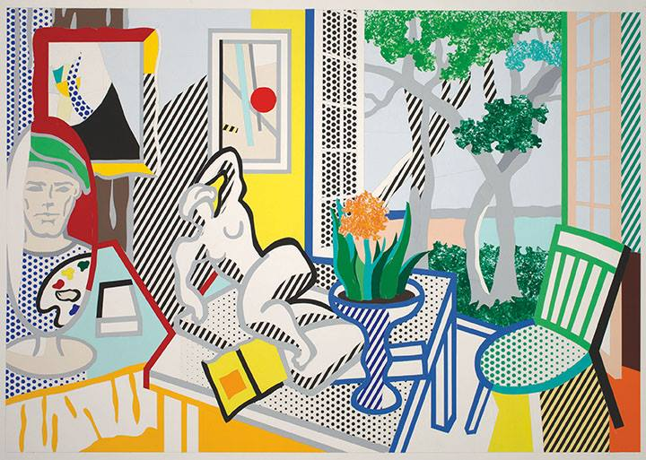 Roy Lichtenstein (1923-1997) Bellagio Hotel Mural: Still Life with Reclining Nude (Study), 1997 Cut-and-pasted, painted and printed paper on board 40 1/8 x 60 ¼ in. (101.2 x 153 cm) The Roy Lichtenstein Foundation Collection © Estate of Roy Lichtenstein