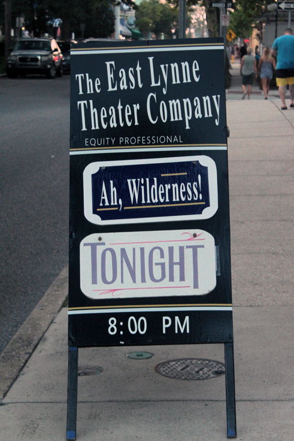 East Lynne Theater Company sign for 'Ah, Wilderness!'
