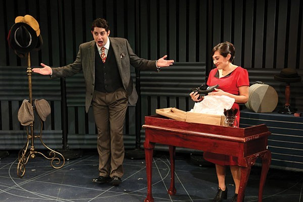 Eli Gelb and Lucy DeVito will perform in How My Grandparents Fell in Love at the NJ Repertory Company. Credit NJJN