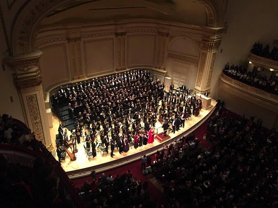 Monmouth Civic Chorus at Carnegie Hall
