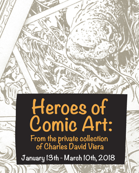 Heroes of Comic Art exhibit image