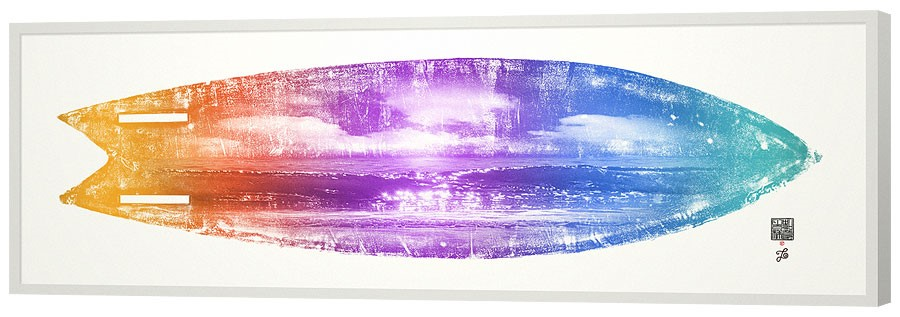 'Surf #1,' collaboration with Scott Szegeski and Tom & Lois White. Archival pigment print, edition of 9, 26x80