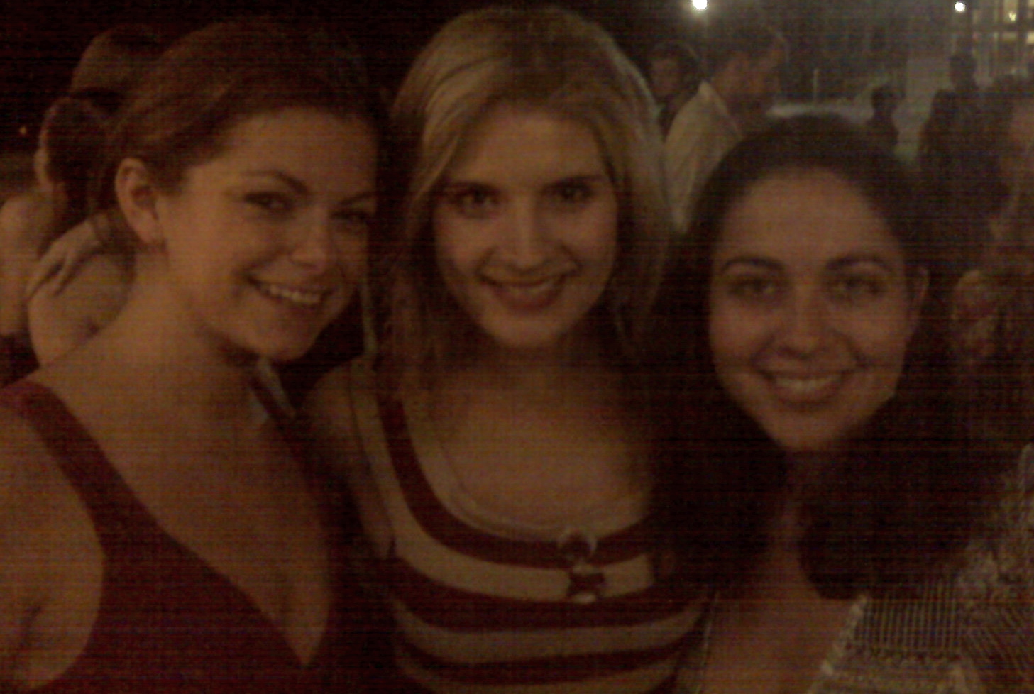 Izzie, Katie, and Olga enjoy the afterparty.