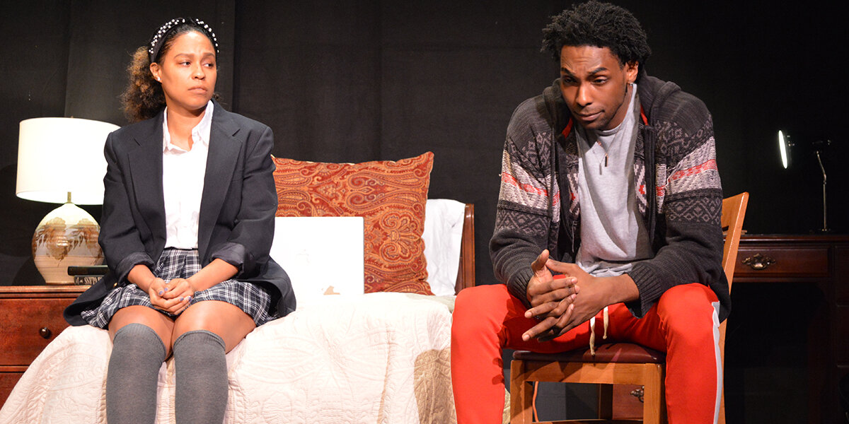 Shawneka Ponder as Jasmine and Brian Neal as Omari in SCTC's  Pipeline
