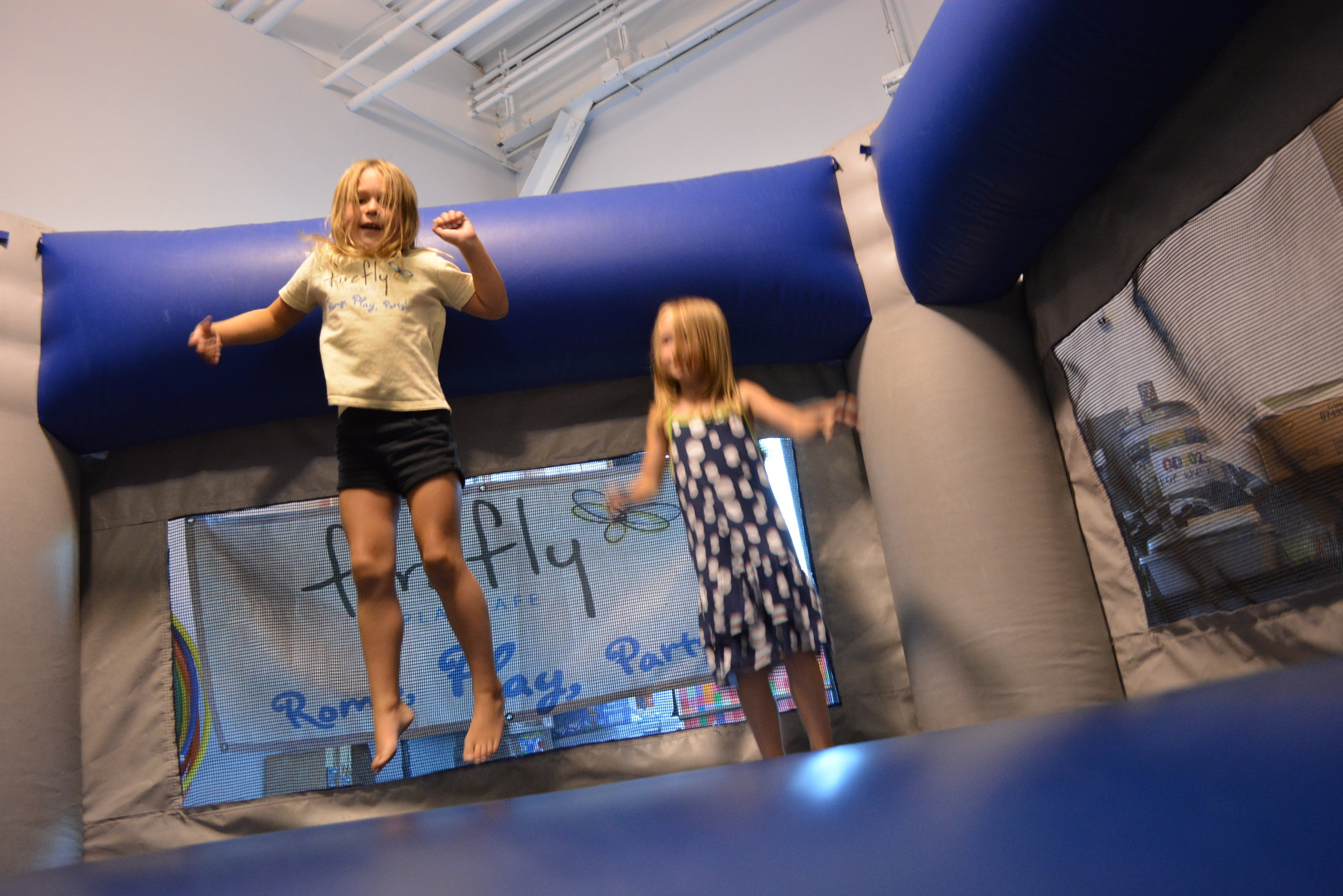 ROMP! - Kiddos can join the fun during our open play hours. It's easy to drop in anytime, pay admission and start playing!